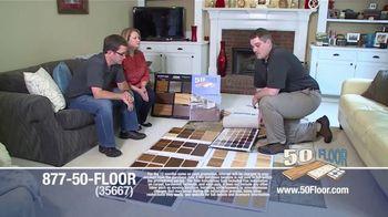 50 Floor TV Spot, 'New Floors: Free Installation' - Thumbnail 2