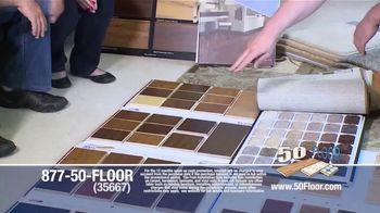 50 Floor TV Spot, 'New Floors: Free Installation' - Thumbnail 3