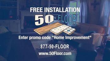 50 Floor TV Spot, 'New Floors: Free Installation' - Thumbnail 7
