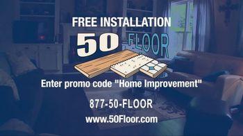 50 Floor TV Spot, 'New Floors: Free Installation' - Thumbnail 8