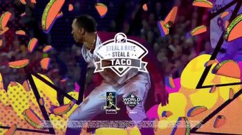 Taco Bell Steal a Base, Steal a Taco TV Spot, '2019 World Series: Heroes' - 113 commercial airings