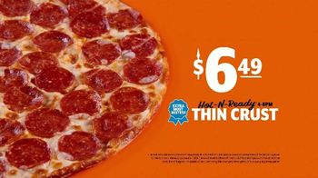 Little Caesars Hot-N-Ready Thin Crust Pizza TV Spot, 'Can't See the Crust: $6.49' - Thumbnail 6