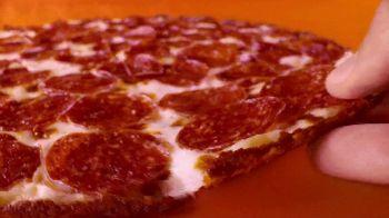 Little Caesars Hot-N-Ready Thin Crust Pizza TV Spot, 'Can't See the Crust: $6.49' - Thumbnail 5