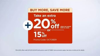 Kohl's Home Sale TV Spot, 'Bath Towels and Coffee Maker: Take Extra $20 Off' - Thumbnail 2