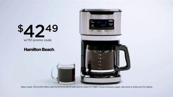 Kohl's Home Sale TV Spot, 'Bath Towels and Coffee Maker: Take Extra $20 Off' - Thumbnail 6