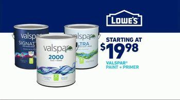Lowe's TV Spot, 'Official Sponsor of the NFL: Valspar Paints' - Thumbnail 10
