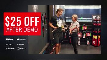 Tennis Express TV Spot, 'Demo Tennis Racquets'