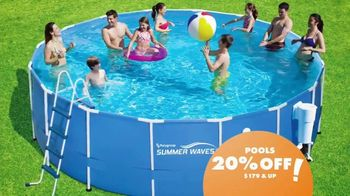 Big Lots Memorial Day Sale TV Spot, '20 Percent Off Pools'