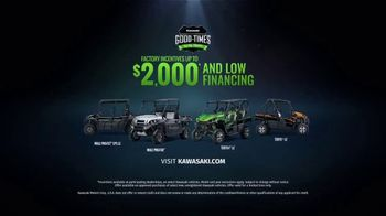 Kawasaki Good Times Sales Event TV Spot, 'Roll' Feat. Steve Austin, Clint Bowyer, Jeremy McGrath - Thumbnail 8