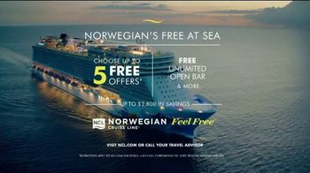 Norwegian Cruise Line Free at Sea TV Spot, 'Choose up to Five Free Offers: $299' Song by Andy Grammer - Thumbnail 8