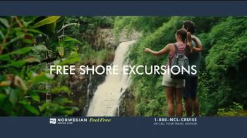 Norwegian Cruise Line Free at Sea TV Spot, 'Choose up to Five Free Offers: $299' Song by Andy Grammer - Thumbnail 4