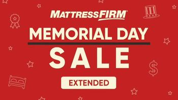 Mattress Firm Memorial Day Sale TV Spot, 'Lowest Minimum Purchase Ever' - Thumbnail 1