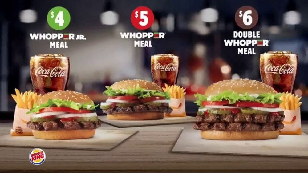 Burger King Whopper Meal Deals TV Commercial, 'Feed Your Appetite' - Video