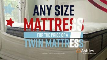 Ashley HomeStore Memorial Day Mattress Sale TV Spot, 'Extended: Any Size for a Twin' Song by Midnight Riot - Thumbnail 4