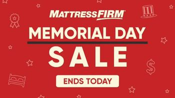 Mattress Firm Memorial Day Sale TV Spot, 'Free Adjustable Base' - Thumbnail 1