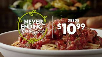 Olive Garden Never Ending Pasta Bowl TV Spot, 'It's All Never Ending' [Spanish]