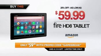 Amazon Fire HD 8 Tablet TV Spot, 'Game Break' - Thumbnail 6