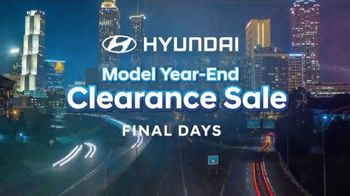 Hyundai Model Year-End Clearance Sale TV Spot, 'Last Chance to Save' [T2] - Thumbnail 1