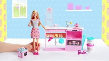 Barbie Cake Decorating Playset TV Spot, 'Let's Bake a Cake' - 1999 commercial airings