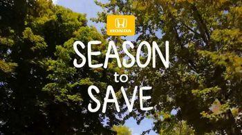 Honda Fall Clearance Sale TV Spot, 'Season to Save' [T2] - Thumbnail 1