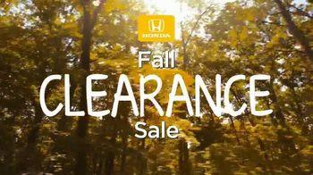 Honda Fall Clearance Sale TV Spot, 'Season to Save' [T2] - Thumbnail 3