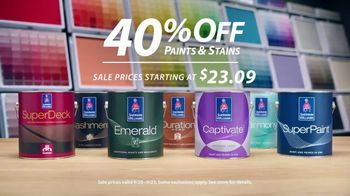Sherwin-Williams TV Spot, '40 Percent Off Paints & Stains' - Thumbnail 3