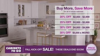 Cabinets To Go Fall Kick-Off Sale TV Spot, 'Save Even More' - Thumbnail 2