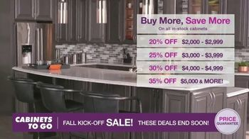 Cabinets To Go Fall Kick-Off Sale TV Spot, 'Save Even More' - Thumbnail 3
