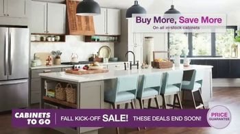 Cabinets To Go Fall Kick-Off Sale TV Spot, 'Save Even More' - Thumbnail 4