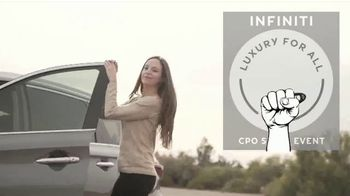 Infiniti of Scottsdale CPO Sales Event TV Spot, 'Luxury for All' - Thumbnail 10