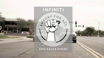 Infiniti of Scottsdale CPO Sales Event TV Spot, 'Luxury for All' - Thumbnail 2