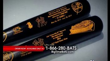 Big Time Bats TV Spot, 'NY Yankees Consecutive Games Home Run Record LS Bat' - 15 commercial airings