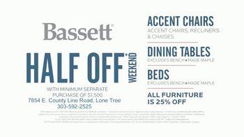 Bassett Half Off Sale TV Spot, 'Three Days Only' - Thumbnail 7