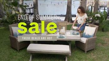 Ashley HomeStore End of Summer Sale TV Spot, 'Sofas and Dining Sets' Song by Midnight Riot