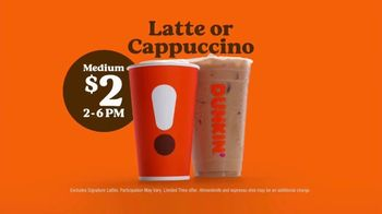 Dunkin' TV Spot, 'Afternoon Drag: Latte or Cappuccino' - Thumbnail 8