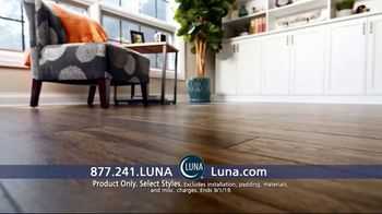 Luna Flooring 70 Percent Off Sale TV Spot, 'Get Floors You'll Love for Less'