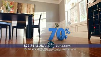 Luna Flooring 70 Percent Off Sale TV Spot, 'Get Floors You'll Love for Less' - Thumbnail 4