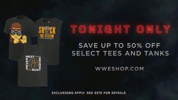 WWE Shop TV Spot, 'Inspired by Millions: 50 Percent Off Tees and Tanks' - Thumbnail 7