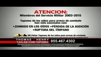 Thomas J. Henry Injury Attorneys TV Spot, 'Tapones de oídos' [Spanish]