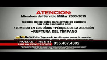 Thomas J. Henry Injury Attorneys TV Spot, 'Tapones de oídos' [Spanish] - Thumbnail 2
