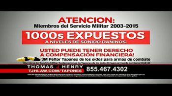 Thomas J. Henry Injury Attorneys TV Spot, 'Tapones de oídos' [Spanish] - Thumbnail 4