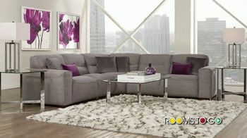 Rooms to Go Summer Sale and Clearance TV Spot, 'Modular Sectional: $1188' - Thumbnail 2