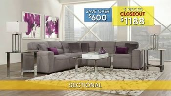 Rooms to Go Summer Sale and Clearance TV Spot, 'Modular Sectional: $1188' - Thumbnail 3