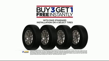 National Tire & Battery TV Spot, 'Buy Three, Get One: Continental'