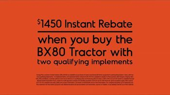 Kubota BX80 Tractor TV Spot, 'Built to Get Any Job Done: Instant Rebate' - Thumbnail 8