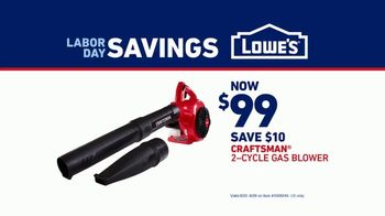 Lowe's Labor Day Savings TV Spot, 'Show Your Yard Who's Boss: Craftsman Gas Blower' - Thumbnail 9