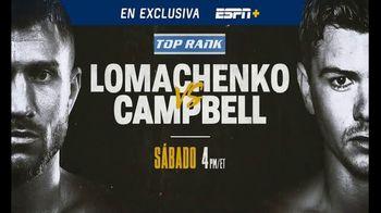 ESPN+ TV Spot, 'Top Rank: Lomachenko vs. Campbell' canción de Rick Ross [Spanish] - 267 commercial airings