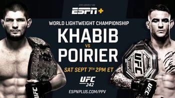 ESPN+ TV Spot, 'UFC 242: Khabib vs. Poirier'