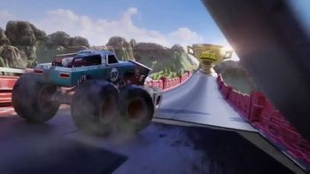 Hot Wheels Monster Trucks Downhill Race & Go Playset TV Spot, 'Take out the Competition' - Thumbnail 2