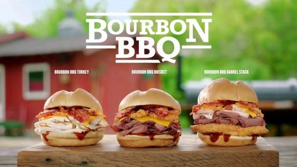 Arby's Bourbon BBQ TV Commercial, 'Use One Word'
